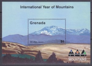 2002 Grenada 4971/B676 International Year of Mountains 6,00 €