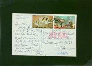 Thailand 8 Bhat Rate Postcard to USA - Z2075