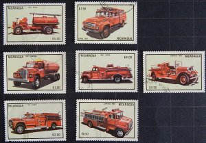 Nicaragua, 1983, Fire Engines and Airmail - Fire Engines, (1685-Т)