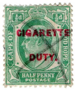 (I.B) Cape of Good Hope Revenue : Cigarette Duty ½d
