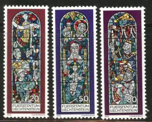 LIECHTENSTEIN Scott 657-659 MNH** 1978 stained-glass set