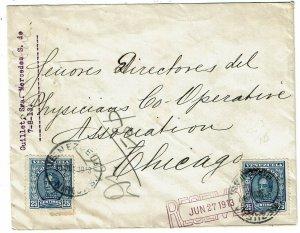 Venezuela 1913 Maracaibo cancel on cover to the U.S., franked Scott 253