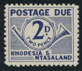 Rhodesia & Nyasaland SG D2 Sc# J2  MNH see details Postage Due