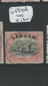 LABUAN (P2101B) 8C BOAT  SG 94A  VFU