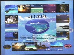 Atoll. 2010. Small sheet 786-800. Tourism, coastal landscapes, ships. MNH.