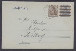 Germany H&G 83 used 1902 Postal Card, Friesenhofen CDS