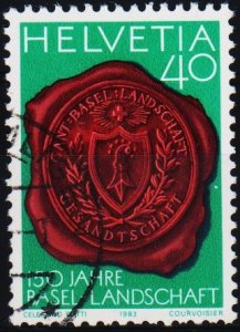 Switzerland. 1983 40c. S.G.1060  Fine Used