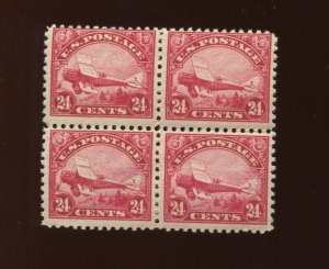Scott C6 Air Mail Mint Block of 4 Stamps  (Stock C6  A1)