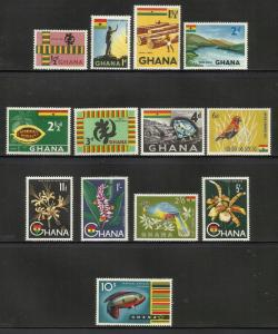 Ghana 1959 Scott# 48-60 MNH