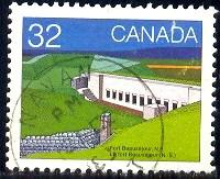 Fort Beausjour, New Brunswick, Canada stamp SC#992 used
