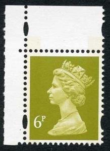 SGY1766 1993 litho 6p yellow-olive 2-B u/m (ex NI Prestige) (was Y1748)