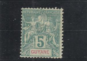 French Guiana  Scott#  35  MH  (1892 Navigation & Commerce)