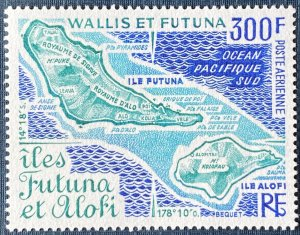 Wallis and Futuna Islands C78 MNH Map of Futuna and Alofi Islands (SCV $15.00)