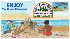 20-112, 2020, Enjoy the Great Outdoors, Digital Color Postmark, FDC, Beaches