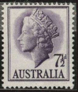 Australia  Scott 297 MNH** 1957 violet QE2