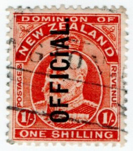 (I.B) New Zealand Postal : Official Service 1/-