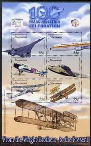 Micronesia 2003 Centenary of Powered Flight perf sheetlet...