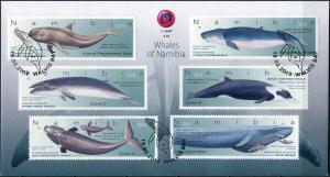 Namibia 2019. Whale Species of Namibia (Mint) First Day Cover