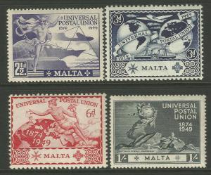 Malta 1949 UPU 75th Anniversary Commemorative Set Mounted Mint