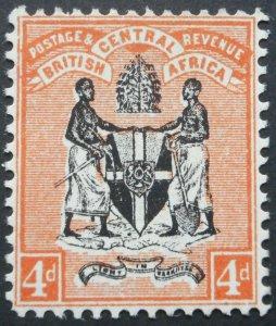 BCA/Nyasaland 1896 Four Pence SG 34 mint