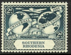SOUTHERN RHODESIA 1949 KGVI 2d UPU Issue Sc 71 MH