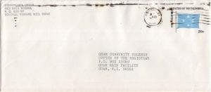 Caroline Islands Micronesia 20c Four-Star Envelope c1984 Ponape, CI 96941 to ...