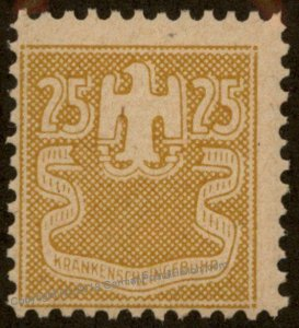 Germany MNH 25pf Krankenscheingebuehr Medical Receipt Revenue Stamp 96205