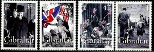 GIBRALTAR Sc#1014-1017 2005 V-E Day Anniversary Complete Set OG Mint NH