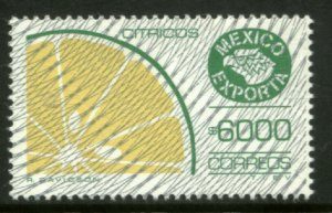 MEXICO Exporta 1769, $6000P CITRUS FR Fluo Paper 13 W/BURELAGE. MINT, NH. F-VF.
