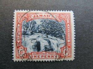 A4P21F29 Jamaica 1900-01 Wmk Crown CC 1d used