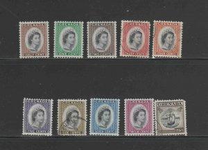 GRENADA #171-183  1953-59 QEII  MINT  VF LH  O.G  & USED