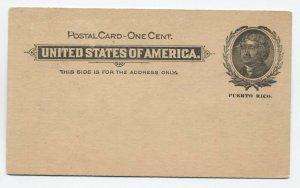 Puerto Rico UX3 1899 postal card overprint mint [y4272]