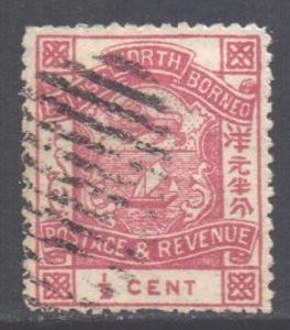 North Borneo Scott 35 - SG36b, 1888 Arms 1/2c Rose used