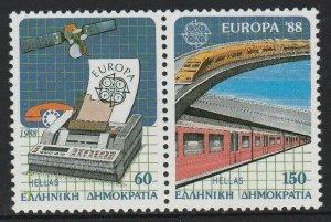 1988 Greece 1685-1686Paar Europa CEPT / Satellite 14,00 €