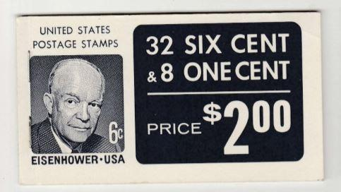 US Scott 1393a BK119 Eisenhower Stamp