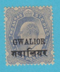 INDIA GWALIOR 39  MINT   HINGED OG * NO FAULTS VERY FINE !