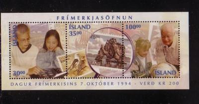 Iceland Sc 789 1994 Stamp Day stamp sheet mint NH