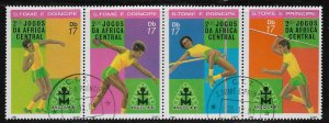 1981 St Thomas & Prince Islands Sc638 2nd Central Africa Games strip of 4 CTO