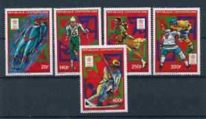 [54927] Central African Rep. 1987 Olympic games Skating Icehockey Skiing MNH