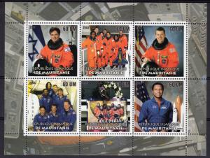 Mauritania 2003 Columbia Disaster Space ILAN RAMON (Israel) Sheetlet#1 (6) Perf.