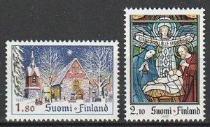 1992 Finland - Sc 903-4 - MNH VF - 2 single - Christmas