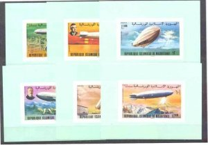 Mauritania 345-48,C166-68 MNH s/s  Zeppelins