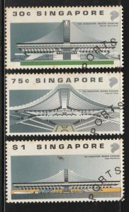1989 Sports Series - Singapore Indoor Stadium set of 3V CTO SG#611-613