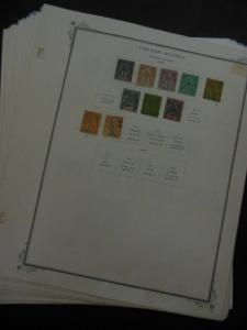 FRENCH GUINEA : Beautiful MOGH & Used collection on album pages. Scott Cat $520