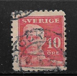 SWEDEN, 142, USED, KING GUSTAF V
