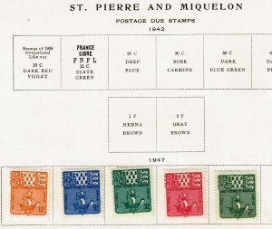 FRANCE STAMP St. Pierre STAMP MINT POSTAGE DUE STAMPS