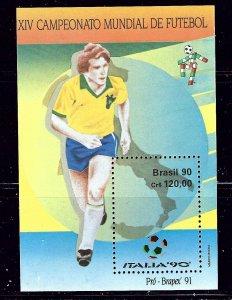 Brazil 2244 MNH 1990 Soccer  sm wrinkle bottom left    (ap1311)