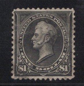 US Stamp Scott #276 Type I $1 Perry USED SCV $90