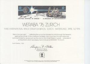 1976 Weraba '76 Zurich Souvenir Card (Scott SC45)