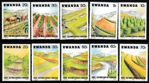 Rwanda MNH 1140-9 Soil Erosion Prevention 1983